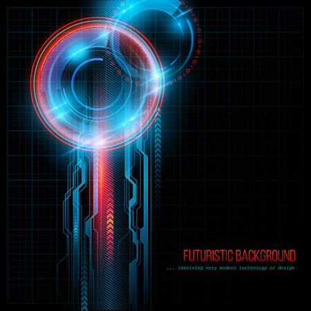 Abstract  HUD futuristic background. Vector illustration  Vectores