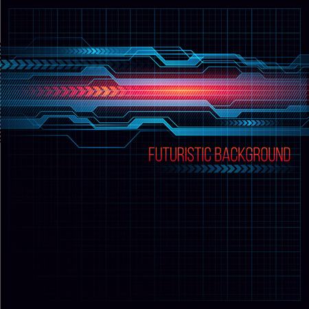 Abstract  HUD futuristic background. Vector illustration   イラスト・ベクター素材