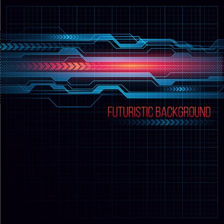 Abstract  HUD futuristic background. Vector illustration  Vettoriali