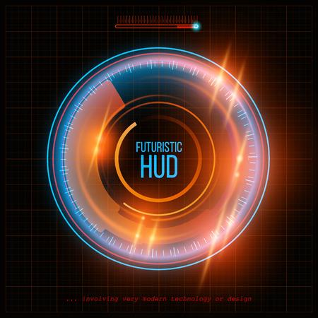 抽象的な HUD の未来的な背景。ベクトル図