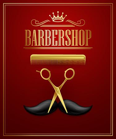 Poster Barbershop welkom. Vector Illustratie Stock Illustratie