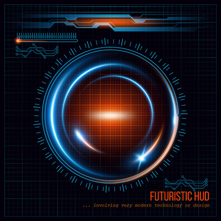 digital abstract: Abstract  HUD futuristic background. Vector illustration  Illustration