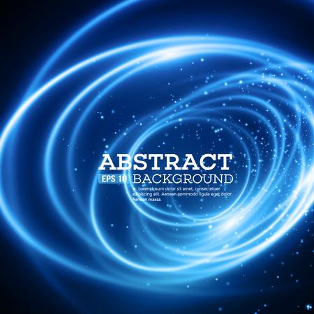 抽象的な青色のライト効果を背景。