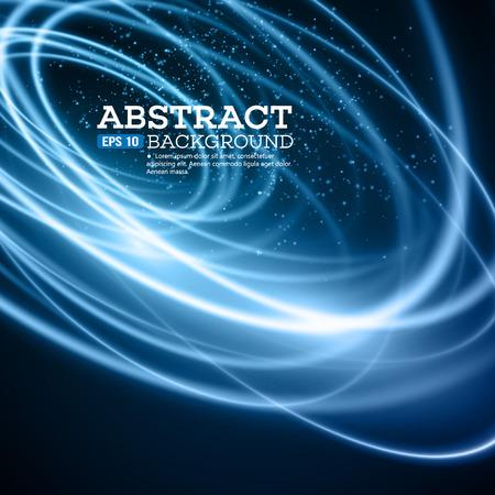 digital art: Abstract Blue Lights Effect Background.