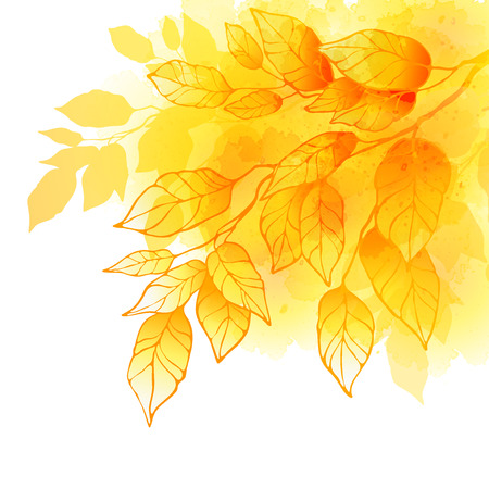 fall of the leafs: Fall leafs watercolor  background