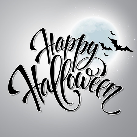 halloween message: Happy Halloween message design background.