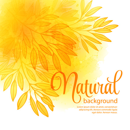 fall of the leafs: Fall leafs watercolor vector background Illustration