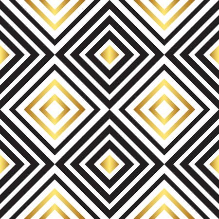 line art: Patr�n de negro y oro. Ilustraci�n del vector EPS 10