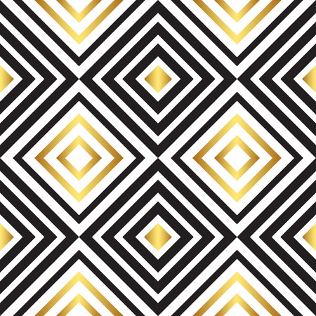 fabric art: Seamless black and gold pattern. Vector illustration EPS 10