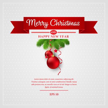 Christmas greeting card. Vector illustration EPS 10