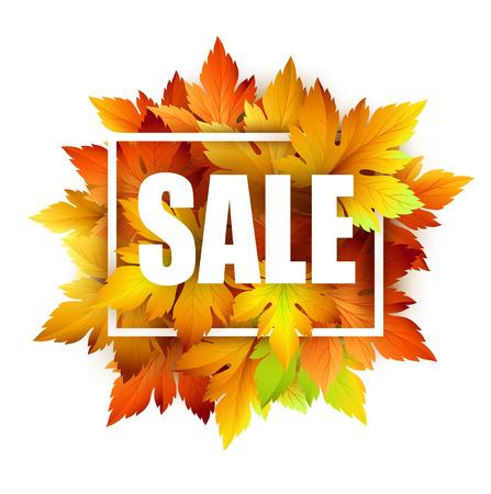 Autumn typographic. Fall leaf. Vector illustration EPS 10 Illustration