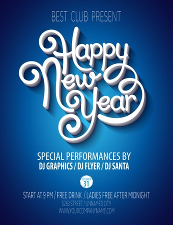 new: New Year party poster