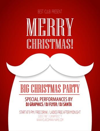 cintas  navide�as: Cartel de la fiesta de Navidad