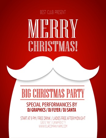 Christmas party poster Stok Fotoğraf - 44487864
