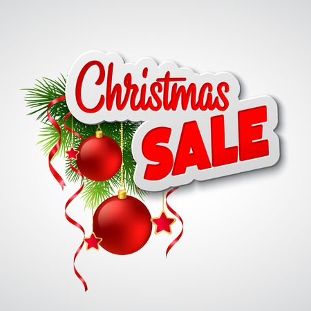 sales person: Christmas sale