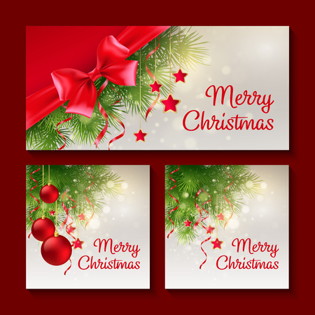 for print: Set of Christmas templates for print or web design