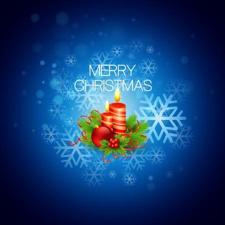 velas de navidad: Fondo de Navidad con velas Vectores