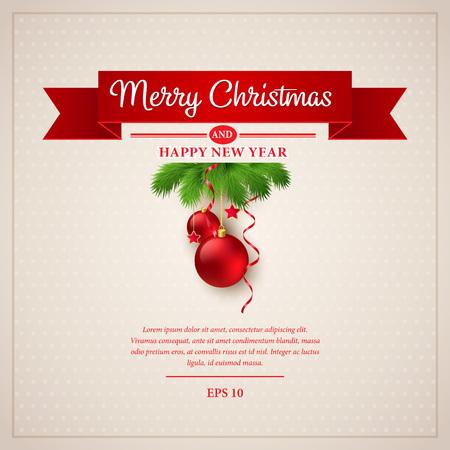 Carte de voeux de Noël Vecteurs