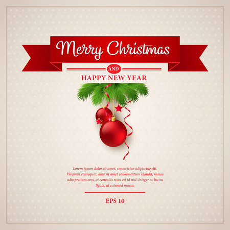 happy holidays: Christmas greeting card