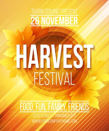 祭: 収穫祭のポスター。ベクトル イラスト EPS 10  イラスト・ベクター素材