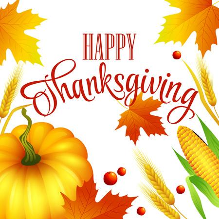 thanks giving: Thanksgiving autumn card.  Vector illustration EPS 10