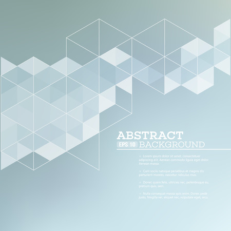 tech: Abstract blurred background with   triangles.  Vector illustration EPS 10