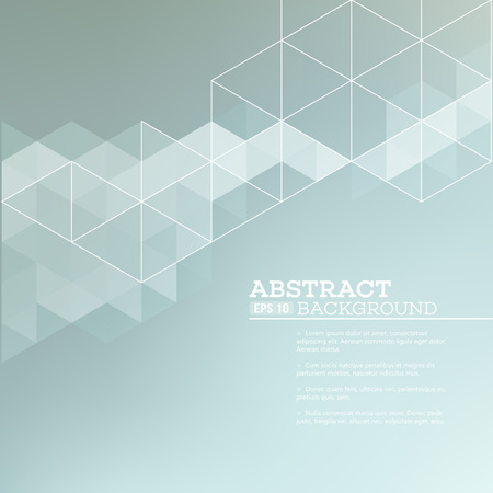 graficos: fondo borroso abstracto con triángulos. Ilustración del vector EPS 10