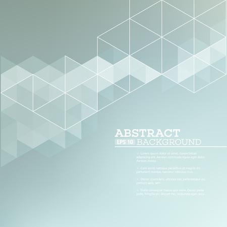 gráfico: Fundo borrado abstrato com triângulos. Ilustração do EPS 10