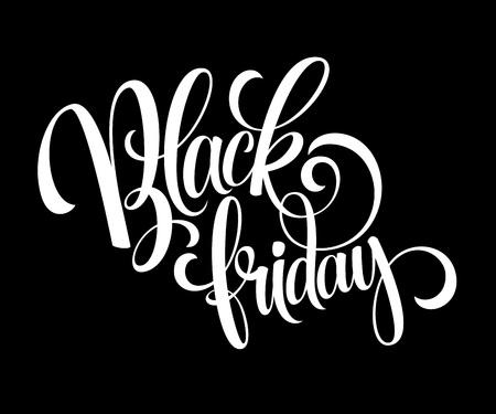 decorative background: Black Friday Sale Calligraphic Design. Vector illustration EPS 10