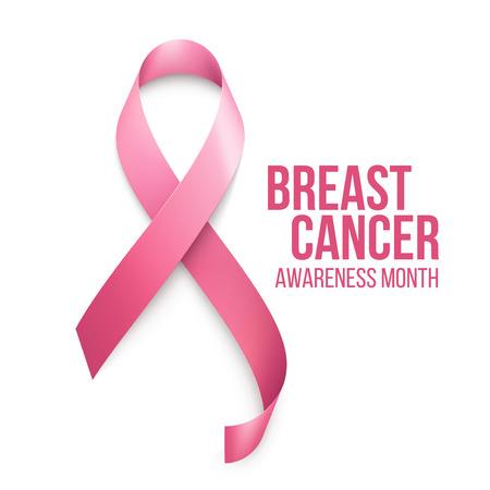seni: Breast Cancer Awareness Ribbon Background. Illustrazione vettoriale