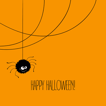 animal background: Funny Halloween greeting card monster eyes. Vector illustration