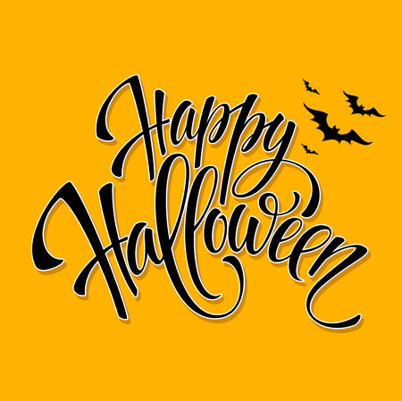 Happy Halloween message design background. Vector illustration