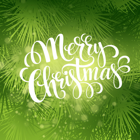 tree texture: Christmas fir tree texture with greetings lettering. Vector illustration Illustration
