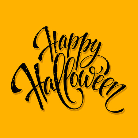 happy halloween: Halloween lettering greeting card. Vector illustration EPS 10 Illustration