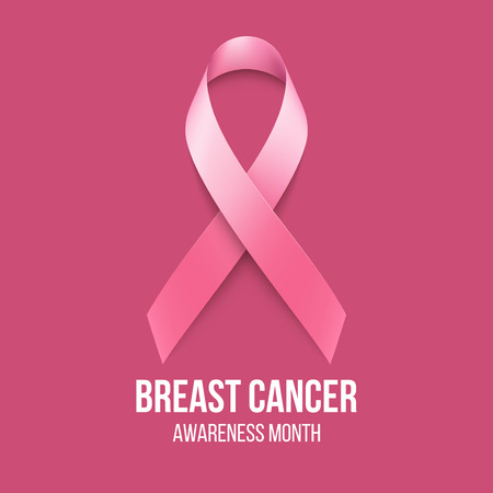 cancer symbol: Breast Cancer Awareness Ribbon Background. Vector illustration EPS 10