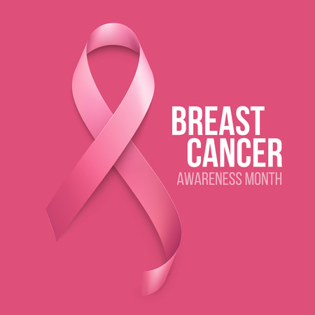 Breast Cancer Awareness Ribbon Background. Vector illustration EPS 10 Stok Fotoğraf - 45588502
