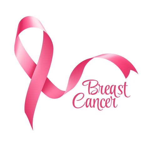 cancer de mama: El cáncer de mama de la cinta de la conciencia. Ilustración vectorial