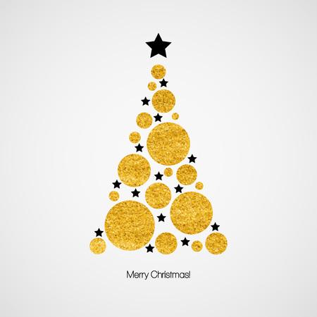 クリスマス ツリーのクリスマス カード。ベクトル図   イラスト・ベクター素材