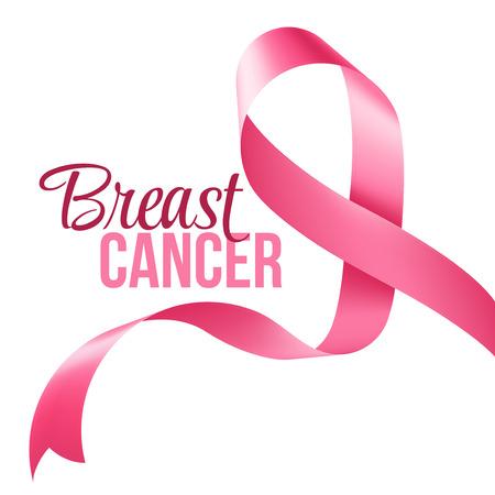 senos: El cáncer de mama de la cinta de la conciencia. Ilustración vectorial