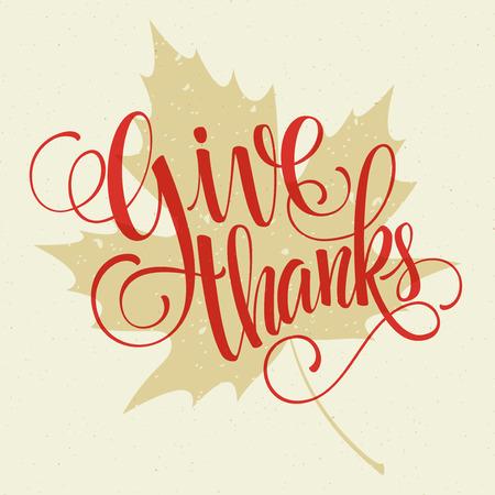 caes: letras Feliz Acci�n de Gracias. Fondo del vector. 10 EPS