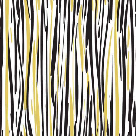 Abstract hand drawn black and gold seamless patterns EPS 10 Illusztráció