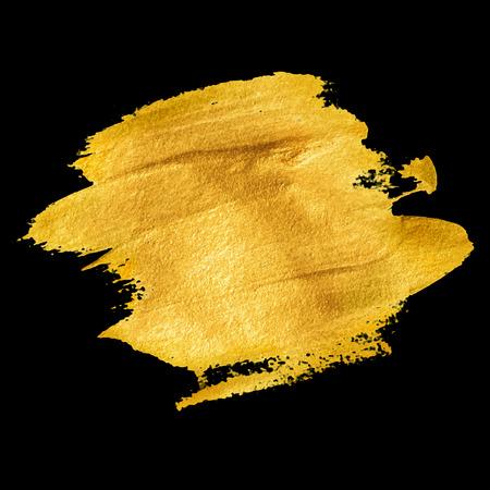 water splash isolated on white background: Gold acrylic paint. Vector illustration EPS 10 Illustration