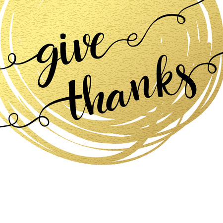 thanks: Thank you hand lettering on splash golden textured background.  Vector illustration EPS 10