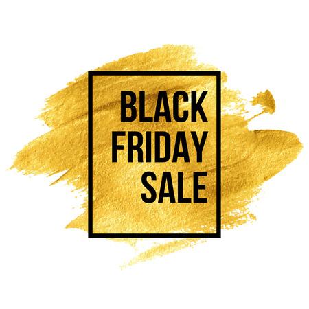 Black Friday Ontwerpen op goud blob. Vector illustratie EPS 10 Stock Illustratie