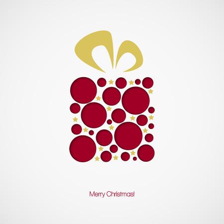 クリスマスのギフト ボックス。ベクトル イラスト EPS 10