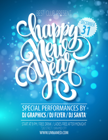 new year party: New Year party poster template. Vector illustration EPS 10 Illustration