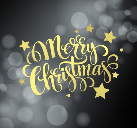 fond de texte: conception des textes d'or de Noël sur fond bokeh. Vector illustration EPS 10