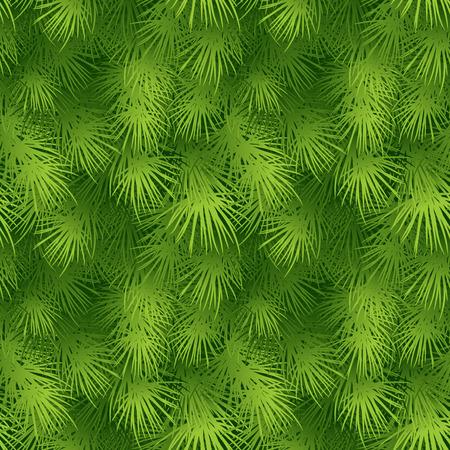traditional plants: Christmas tree fir branch seamless background. Vector illustration EPS 10 Illustration
