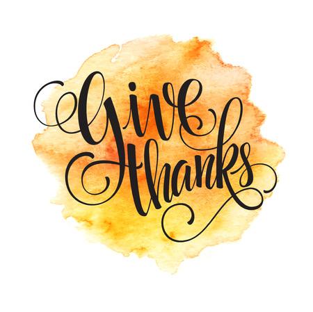 accion de gracias: Fondo de Acción de Gracias. otoño de la acuarela. Ilustración del vector EPS 10