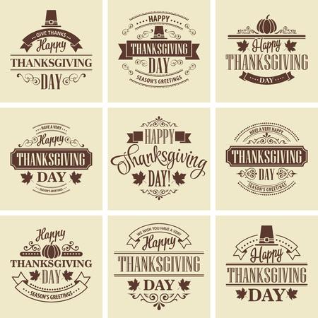 accion de gracias: Tipográfico de Acción de Gracias Diseño Conjunto. Ilustración del vector EPS 10 Vectores